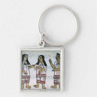 Female Aztec costumes Keychain