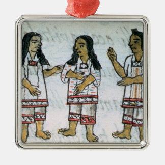Female Aztec costumes Metal Ornament