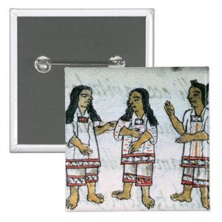 Female Aztec costumes Pinback Button