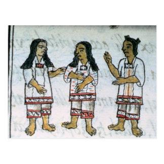 Female Aztec costumes Postcard