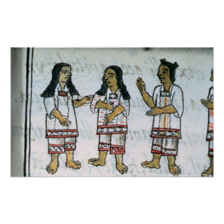 Female Aztec costumes Poster
