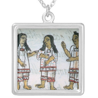Female Aztec costumes Silver Plated Necklace