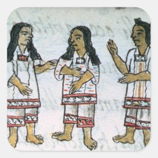 Female Aztec costumes Square Sticker