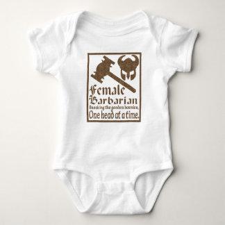 Female Barbarian Baby Bodysuit