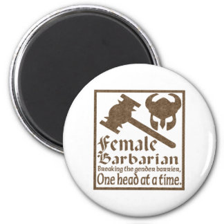 Female Barbarian Magnets