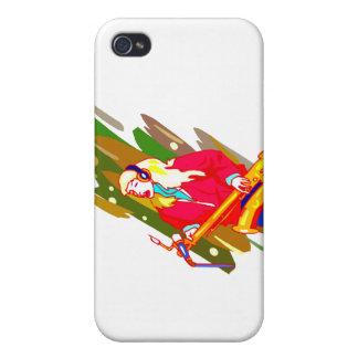 Female Baritone Sax Player Singing Graphic Design iPhone 4/4S Case