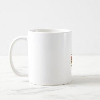 Female Baritone Sax Player Singing Graphic Design mug
