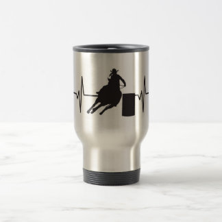 Female Barrel Racer - Heartbeat Pulse Graphic Travel Mug