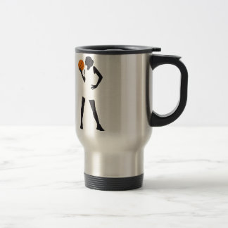 female basketball more player travel mug