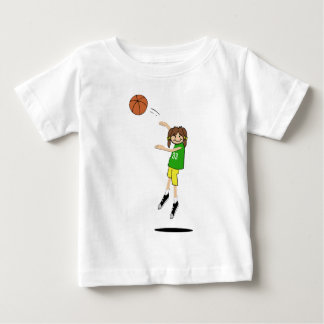 Female Basketball Player Baby T-Shirt