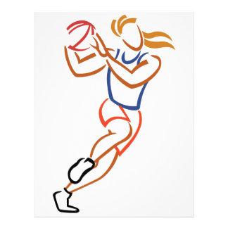Female Basketball Player Letterhead