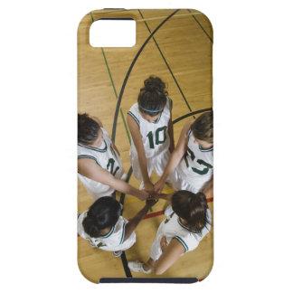 Female basketball team having group handshake iPhone 5 case