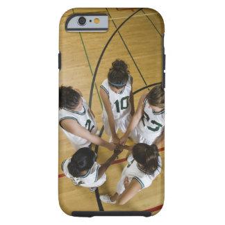 Female basketball team having group handshake iPhone 6 case