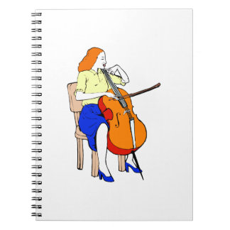 Female bass orchestra yellow shirt.png notebook