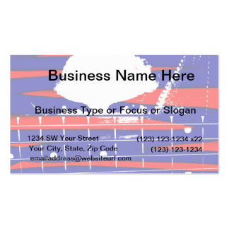 Female bass player eyes blue red business card