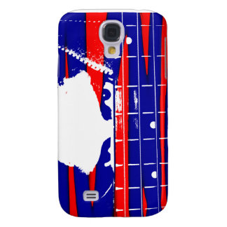 Female bass player eyes blue red galaxy s4 cases