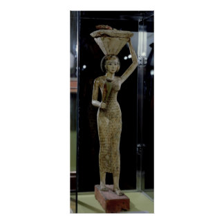 Female bearer of offerings carrying a water poster