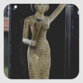Female bearer of offerings carrying a water stickers
