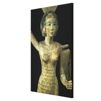 Female bearer of offerings carrying a water vase i stretched canvas prints