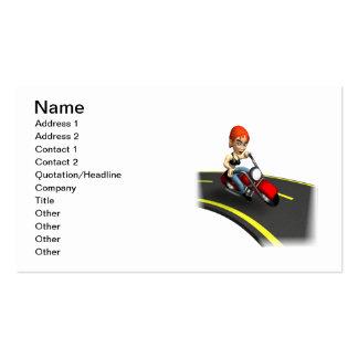 Female Biker Business Cards