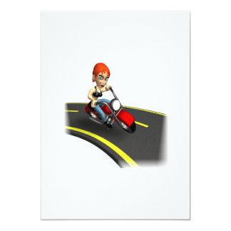 Female Biker Card