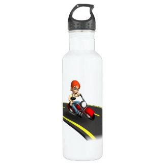Female Biker Water Bottle