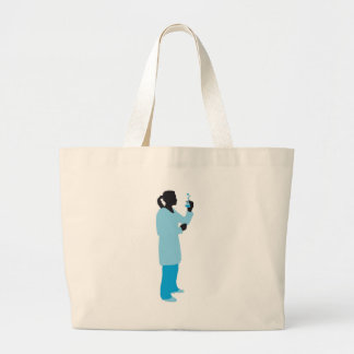 female biologist, chemist, physicist large tote bag