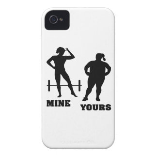 Female Body Building Mine vs. Yours iPhone 4 Case