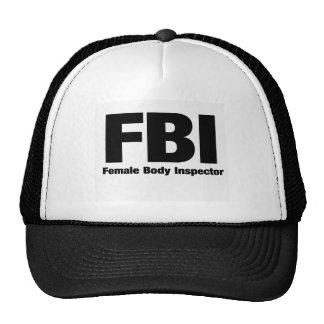 Female Body Inspector Mesh Hats