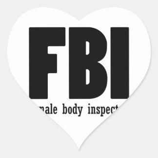 Female Body inspector Heart Sticker