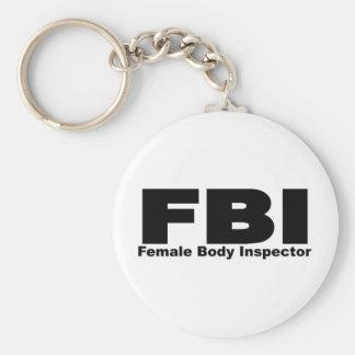 Female Body Inspector Key Chain