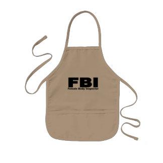 Female Body Inspector Kids' Apron