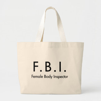 Female Body Inspector Large Tote Bag