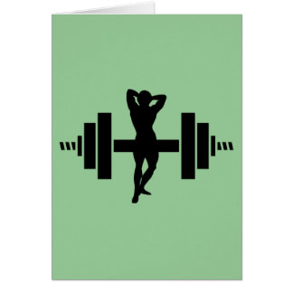 Female Bodybuilder Card