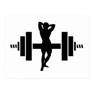Female Bodybuilder Postcard