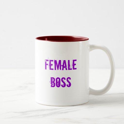 female boss coffee  mug
