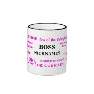 Female Boss Nicknames Funny Insults and Job Titles Ringer Coffee Mug