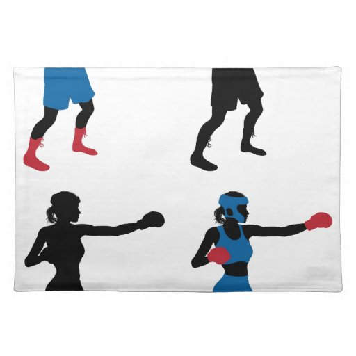 Female boxer boxing cloth placemat