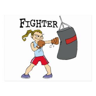 Female Boxer Postcard