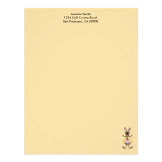 Female Bunny with Egg in Pocket Letterhead
