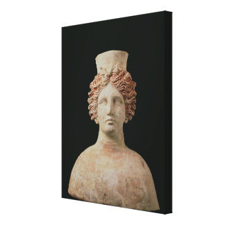 Female bust with kalathos from Ibiza, 5th century Gallery Wrapped Canvas
