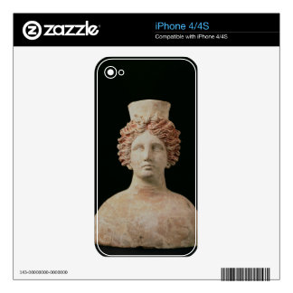 Female bust with kalathos from Ibiza, 5th century iPhone 4 Decal