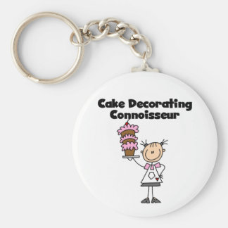 Female Cake Decorating Connoisseur Keychain