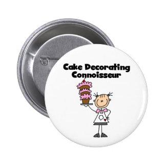 Female Cake Decorating Connoisseur Pinback Button