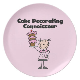Female Cake Decorating Connoisseur Party Plate