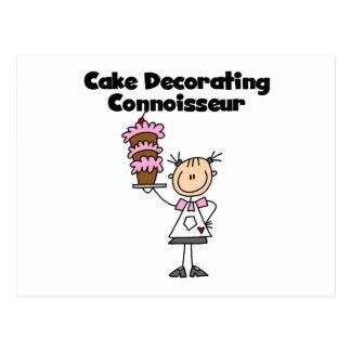 Female Cake Decorating Connoisseur Postcard