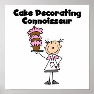 Female Cake Decorating Connoisseur Poster