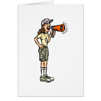 Female Camp Counselor Card