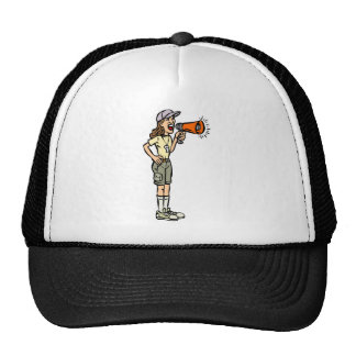 Female Camp Counselor Mesh Hats