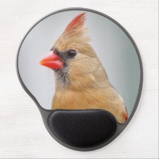 Female cardinal gel mouse pad